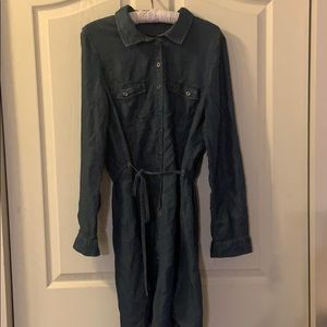 Ladies denim dress size large